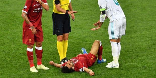 Salah quitte la finale blessé et en larmes (VIDEOS) - La Libre