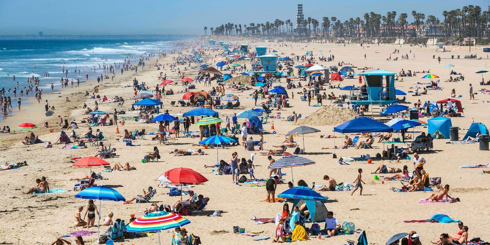 La plage d'Huntington Beach, à Los Angles.