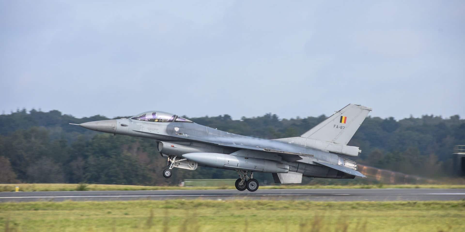 Lutte contre l'État islamique : les F-16 belges en Jordanie sont opérationnels