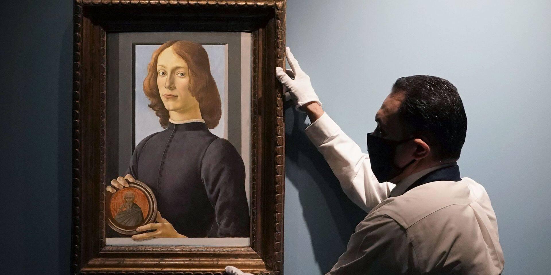 Une rare toile de Botticelli vendue 92,2 millions de dollars aux enchères