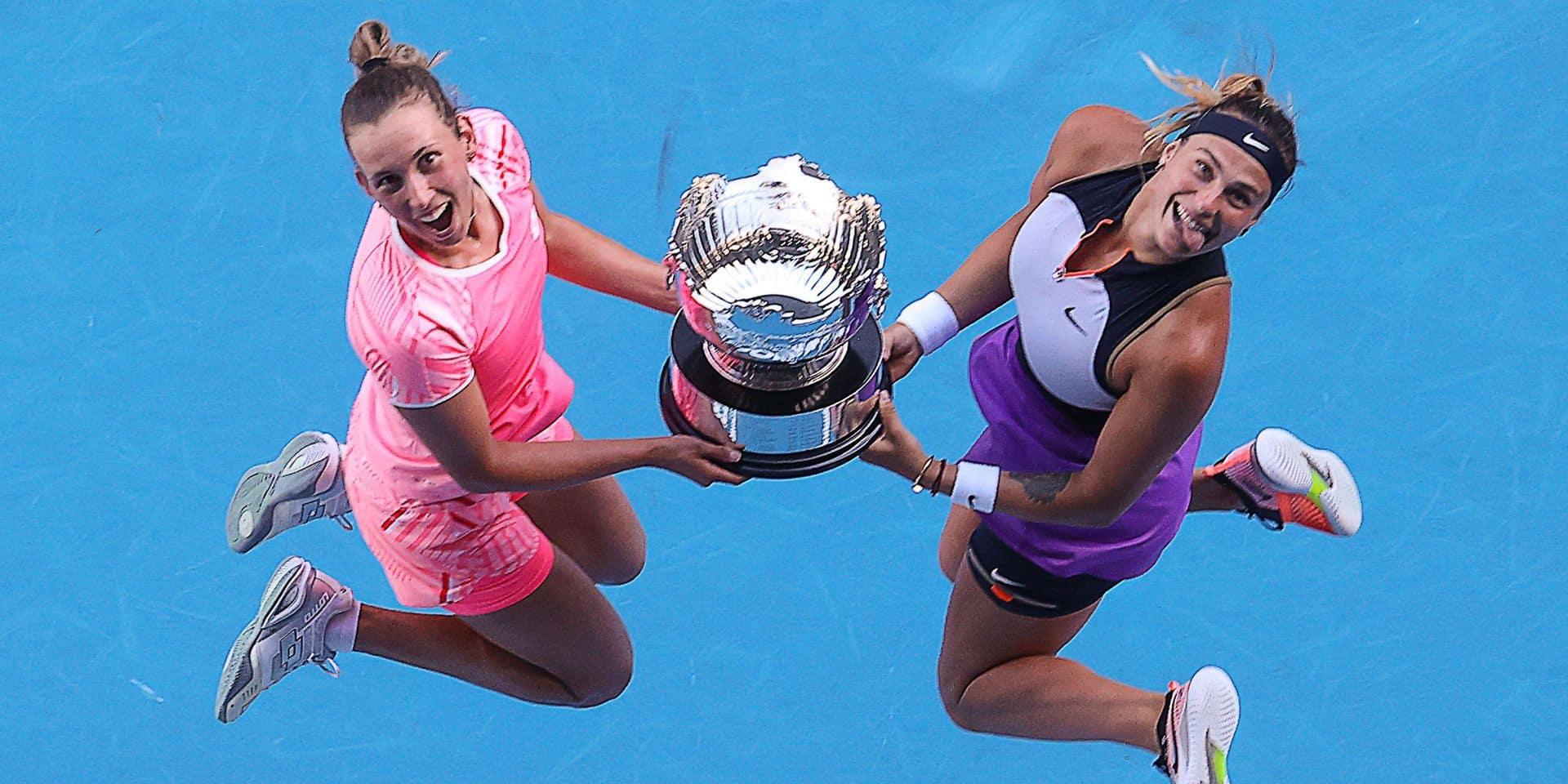 """Elise Mertens savoure après sa victoire en double à l'Australian Open: """"Pas de mots pour exprimer ce que je ressens"""""""