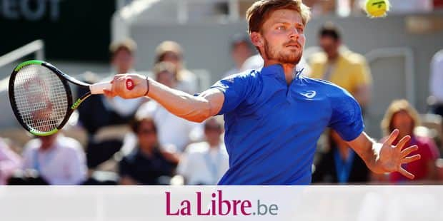 Belgian David Goffin (ATP 29) pictured in action during a tennis match against Spanish Rafael Nadal (ATP 2), in the men's singles third round at the Roland Garros French Open tennis tournament, in Paris, France, Friday 31 May 2019. The main draw of this year's Roland Garros Grand Slam takes place from 26 May to 9 June. BELGA PHOTO VIRGINIE LEFOUR