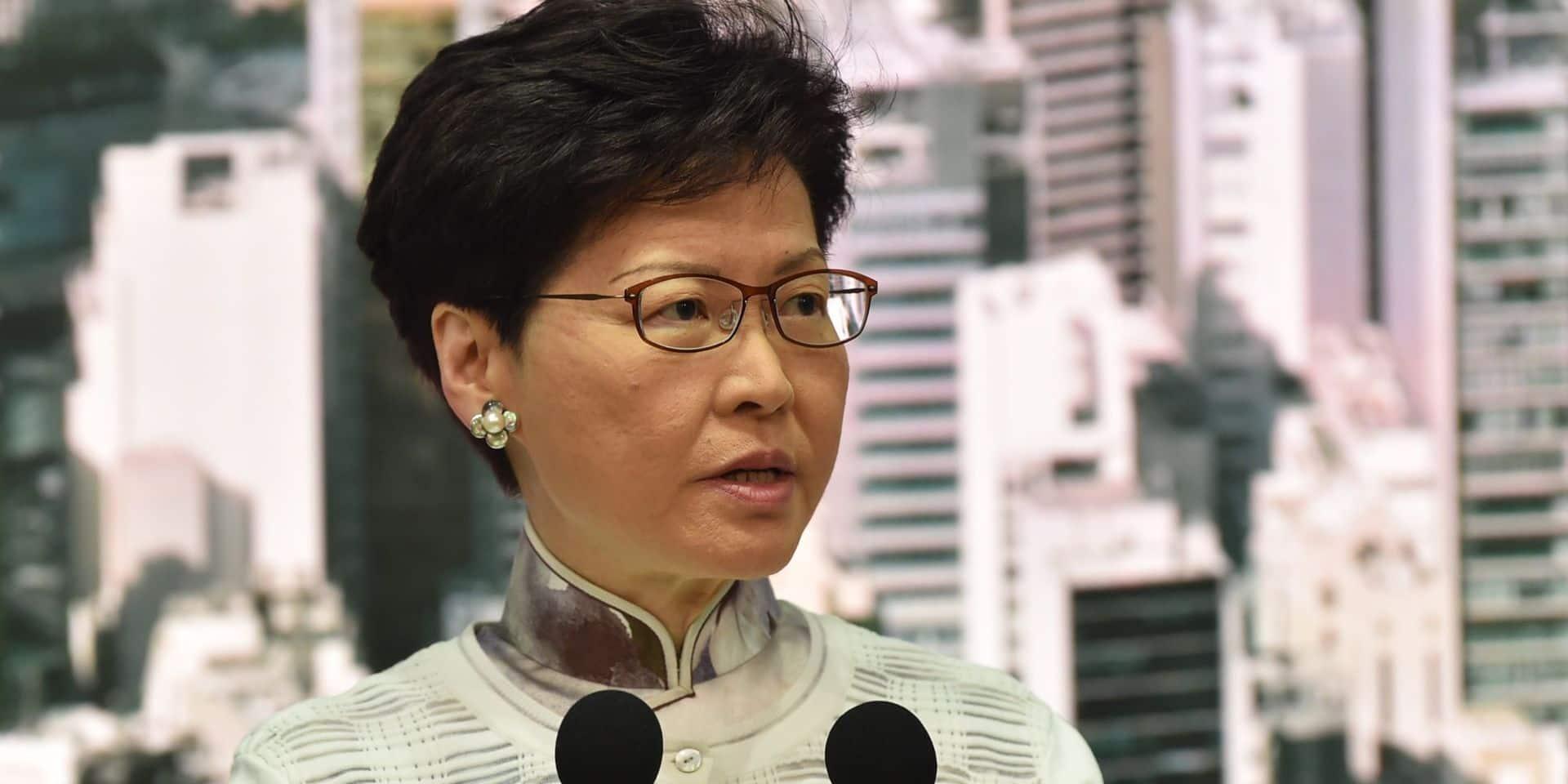 La dirigeante de Hong Kong annonce la suspension du controversé projet de loi