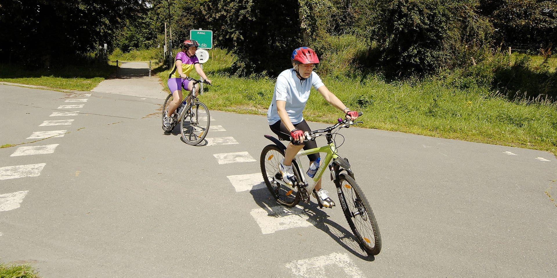 La piste cyclable emprunte le tracé de l'ancienne ligne de chemin de fer Bastogne-Wiltz.