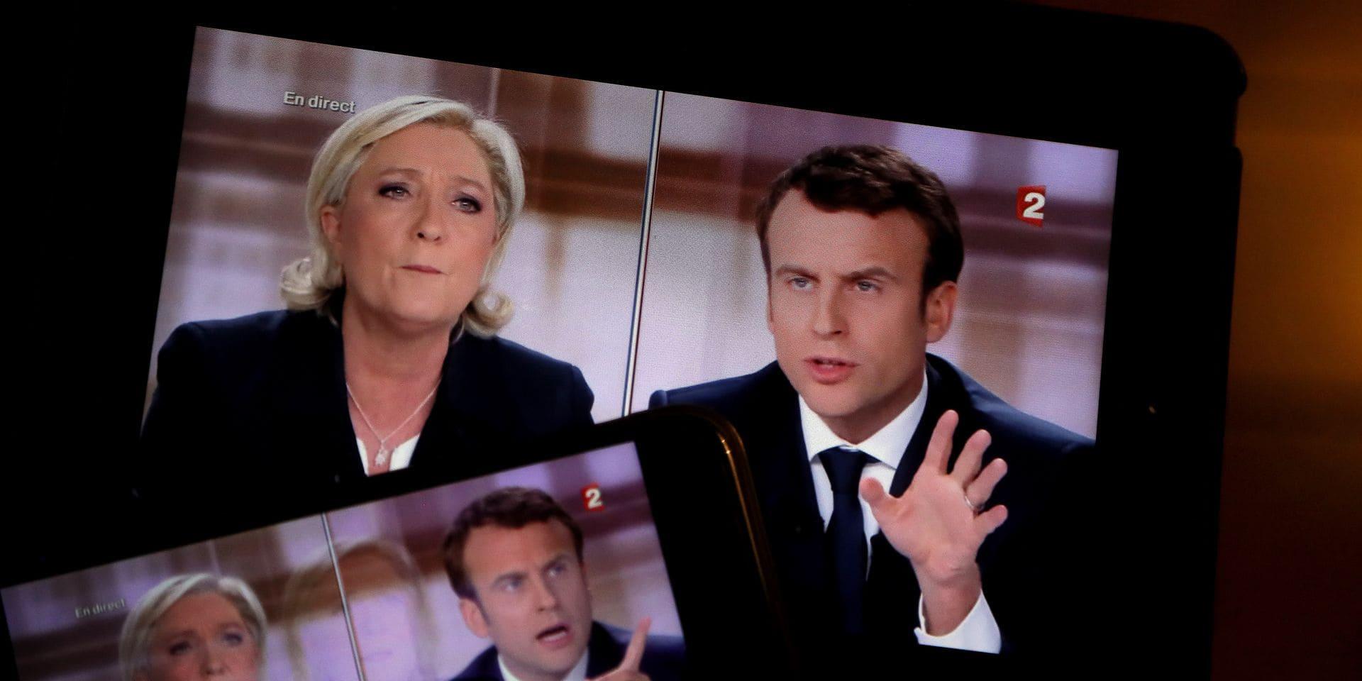"""Illustrations du débat de l'entre-deux-tours """"Marine Le Pen / Emmanuel Macron"""""""