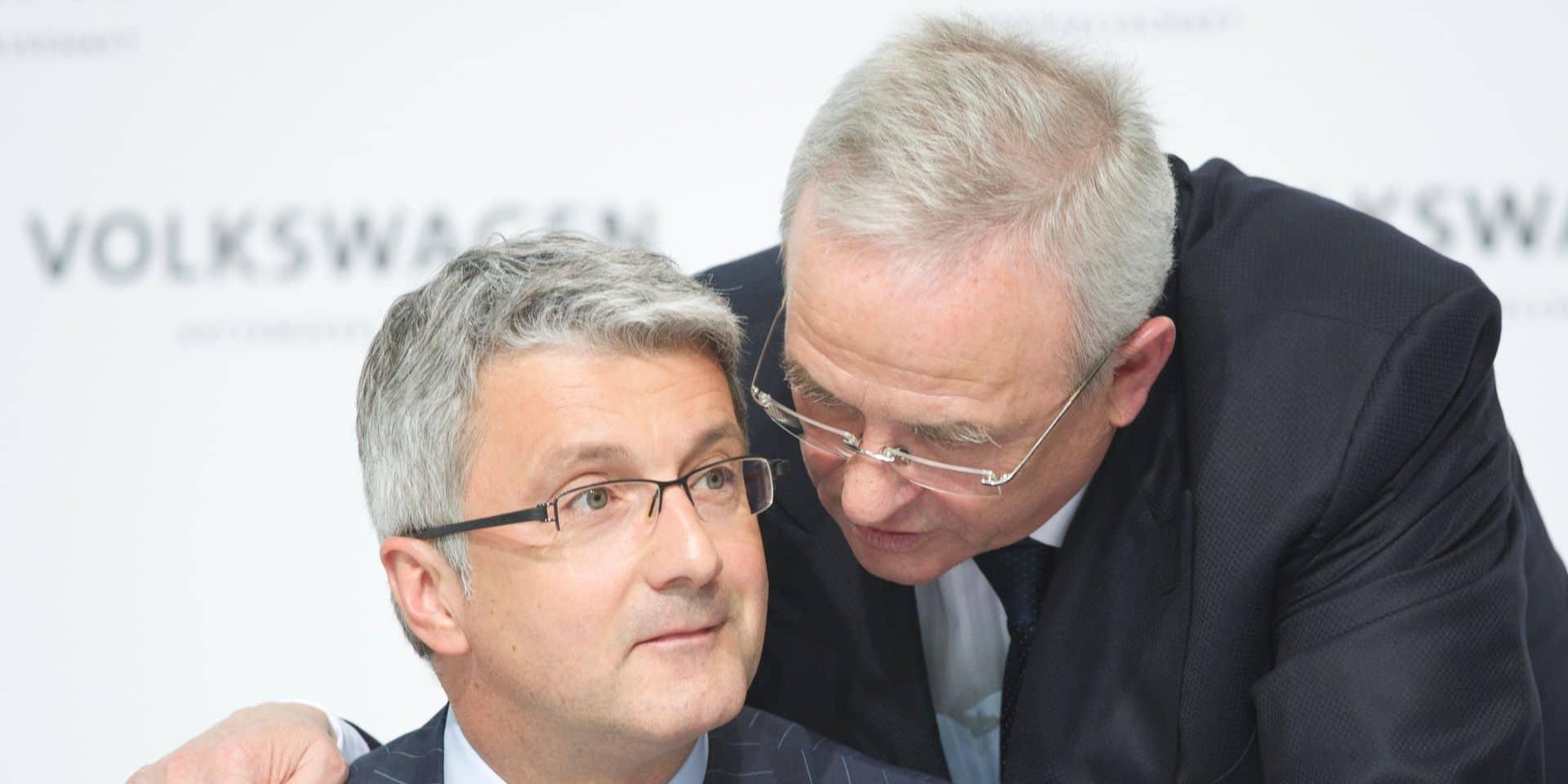 Les anciens patrons d''Audi Rupert Stadler (à gauche) et de Volkswagen Martin Winterkorn.