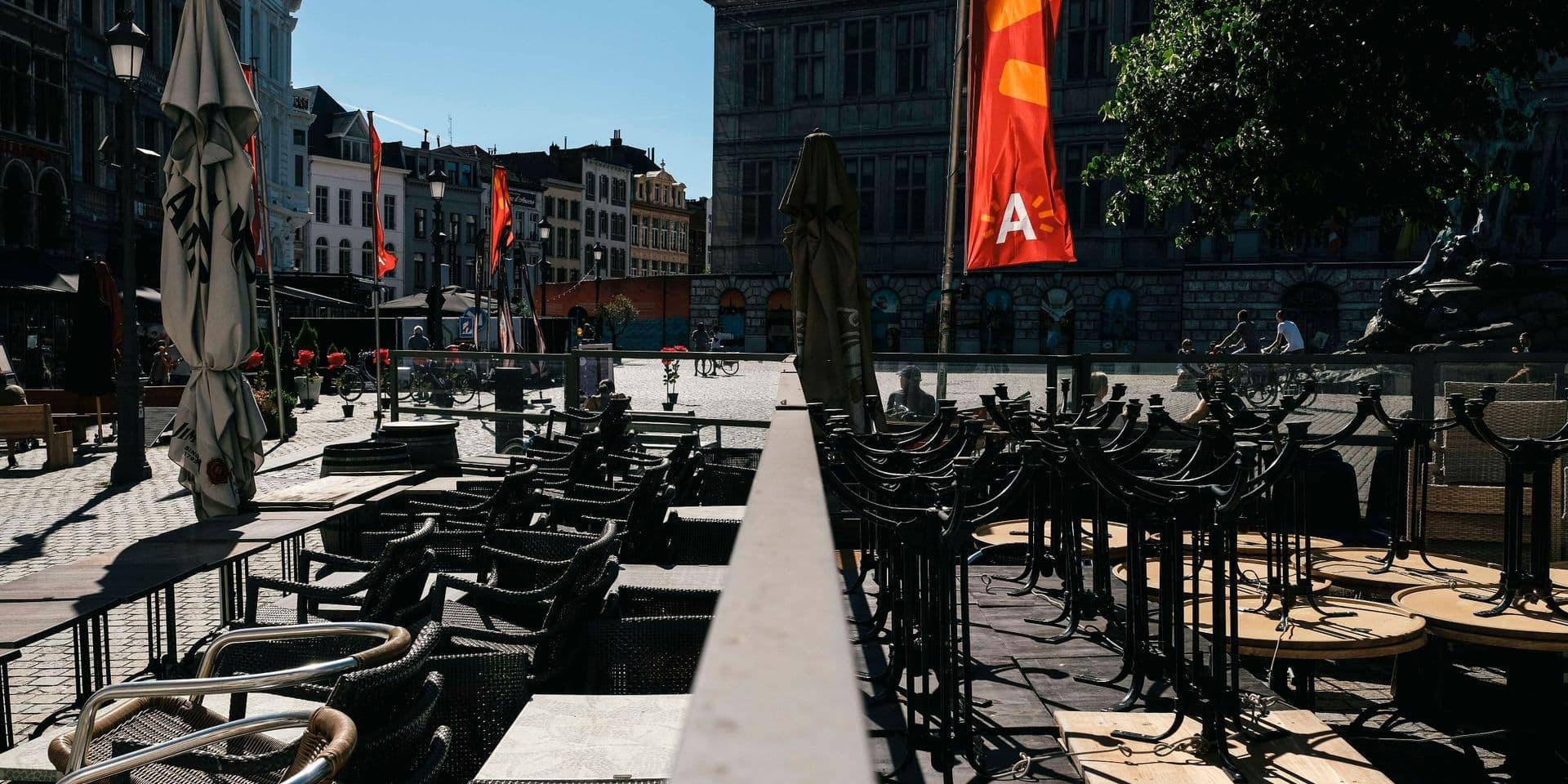 """Un """"confinement factuel"""" à Anvers ? L'alerte de l'horeca anversois"""