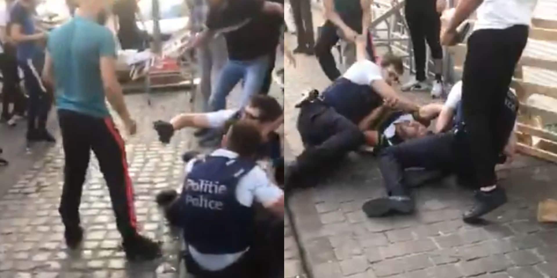 Violences contre des policiers à Anderlecht: un suspect placé sous mandat d'arrêt