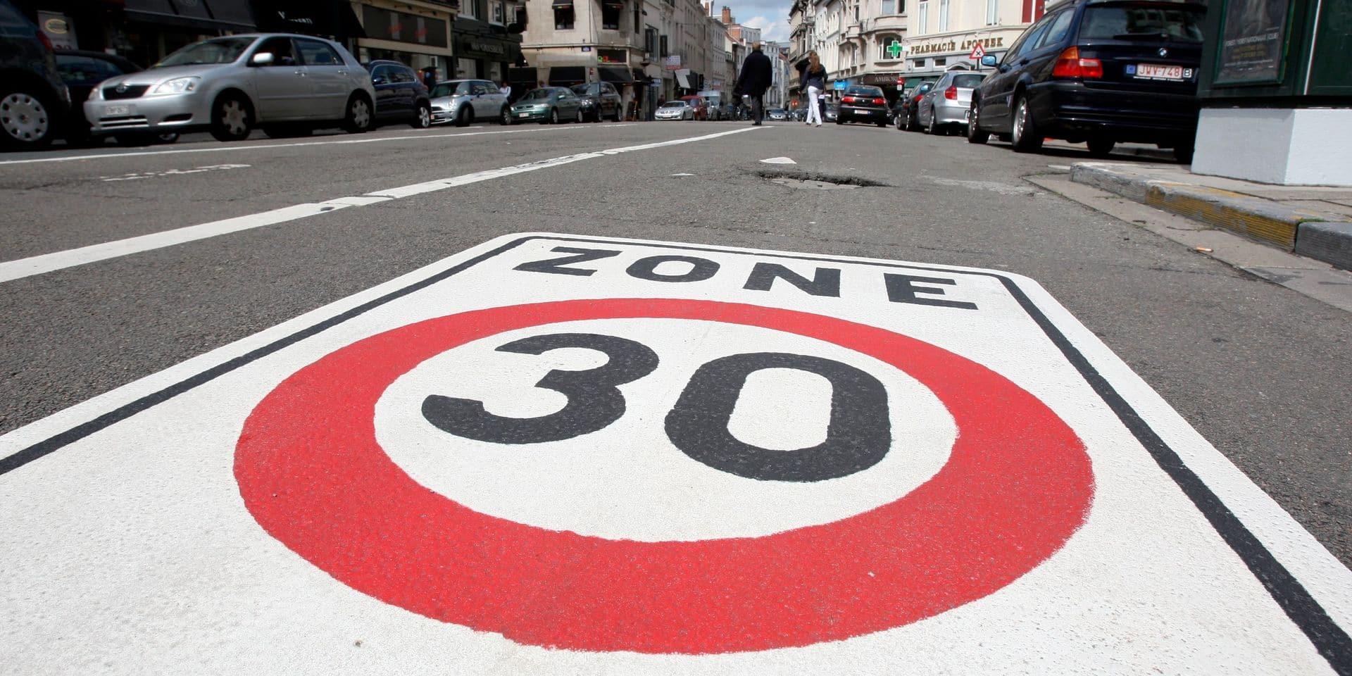Les Bruxellois roulent 9% moins vite depuis l'instauration de la zone 30