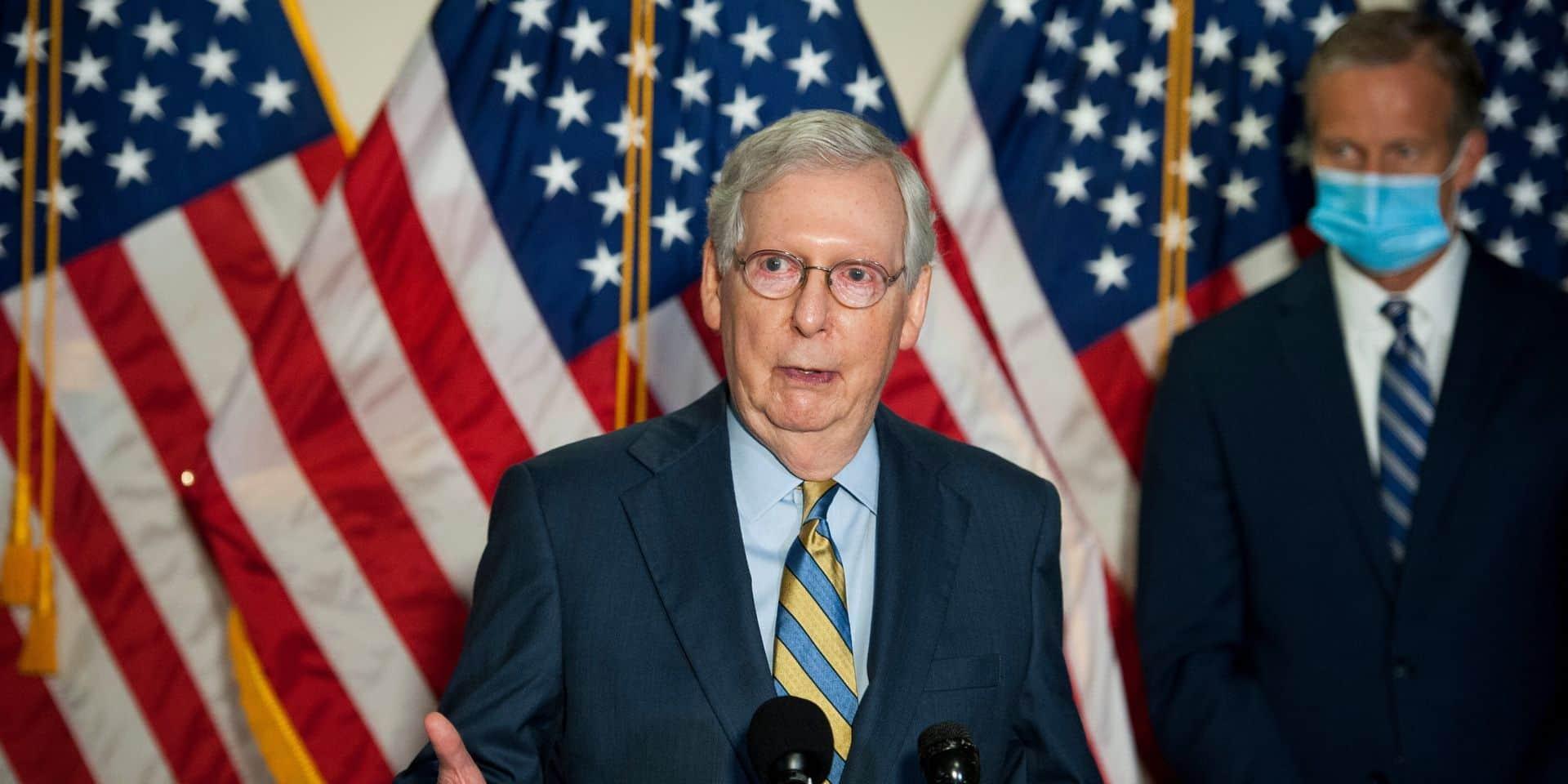 """Le chef des républicains au Sénat tempère les propos de Trump et promet une """"transition en bon ordre"""" à la Maison Blanche"""