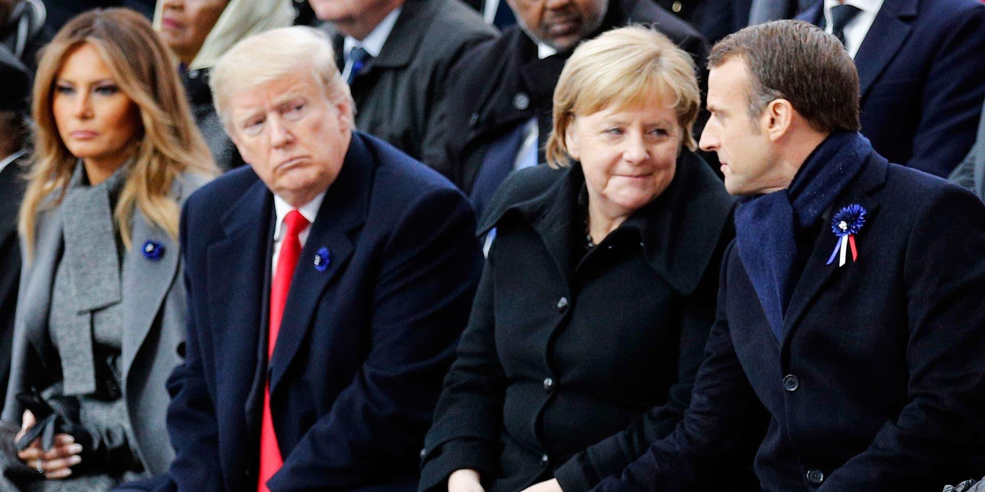Une montre belge au poignet de Macron, Merkel et Trump pour le centenaire de l'armistice